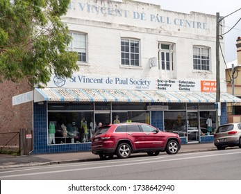 Central Coast NSW Australia February 2nd 2020 - St Vincent de Paul Society Charity Shop Facade in Woy Woy Central Coast