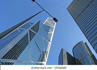 Central district - the financial business center of Hong Kong