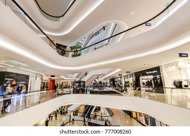 CENTRAL EMBASSY ,BANGKOK - DEC 11: Central Embassy with a christmas decoration on December 11, 2017 in Bangkok ,Thailand. Central Embassy is a luxury mall, Located at the heart of Bangkok.