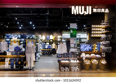 CENTRAL EMBASSY ,BANGKOK - JAN 27: Muji Shop at Central Embassy Shopping Mall on January 27, 2018 in Bangkok, Thailand. Central Embassy is a luxury mall, Located in the heart of Bangkok.