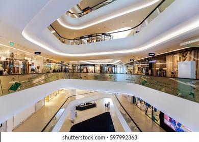 CENTRAL EMBASSY ,BANGKOK - MAR 11: Central Embassy on March 11, 2017 in Bangkok ,Thailand. Central Embassy is a luxury mall, Located at the heart of Bangkok.