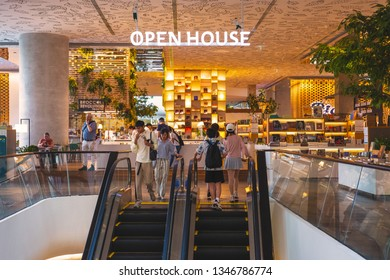 CENTRAL EMBASSY ,BANGKOK - MAR 22: Open House Co-living space at 6th floor, Central Embassy on March 22, 2018 in Bangkok, Thailand. Central Embassy is a luxury mall, Located at the heart of Bangkok