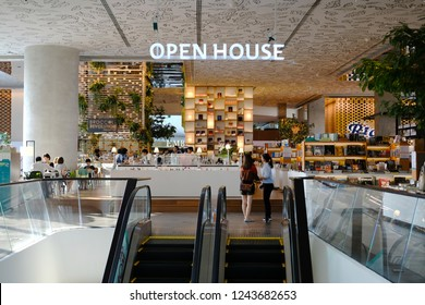CENTRAL EMBASSY ,BANGKOK - NOV 24: Open House Co-living space at 6th floor, Central Embassy on November 24, 2018in Bangkok, Thailand. Central Embassy is located at the heart of Bangkok.