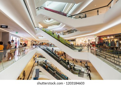 CENTRAL EMBASSY ,BANGKOK - OCT 7: Central Embassy on October 7, 2018 in Bangkok ,Thailand. Central Embassy is a luxury mall, Located at the heart of Bangkok.