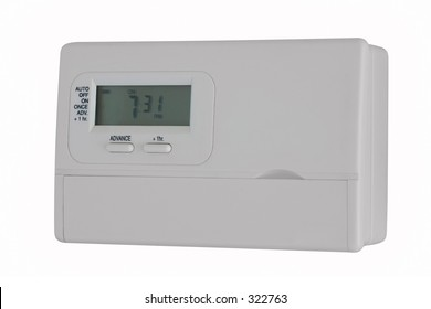 Central heating controller, isolated against a white background, saved with a clipping path