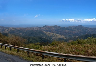 Central highlands of Panama looking west from Highway 10 between Almirante and David
