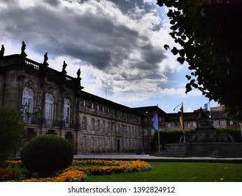 Central historical part of the city of Bayreuth, Germany. With a special artistic effect.