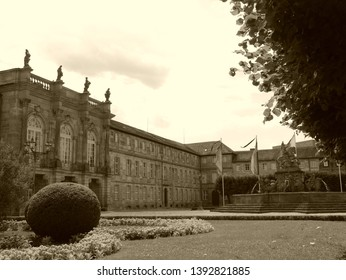 Central historical part of the city of Bayreuth,Germany