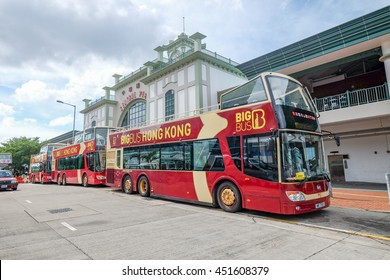 CENTRAL , HONG KONG - JULY 1 : The Big Bus tour is the famous city tour in Hong Kong on July 1 2016.