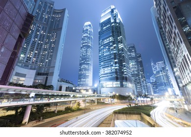 Central, Hong Kong, at Night. The busiest place in the world.