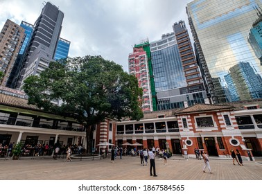 Central, Hong Kong - Oct 18, 2020: Tai Kwun, formerly Former Central Police Station Compound, is a revitalised site as a centre for heritage and arts