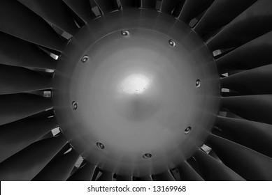 The central hub of a turbine engine, a powerful symbol of industry, technology and progress