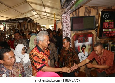 Central Java Governor Ganjar Pranowo at a cultural festival in Batang / Central Java Regency - Indonesia, October 2, 2018