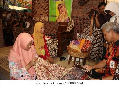 Central Java Governor Ganjar Pranowo at a cultural festival in Batang / Central Java Regency - Indonesia, October 2, 2018