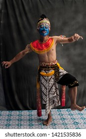 Central Java, Indonesia - July 24, 2014: Demonstrating the Central Java Mask Puppet Dance, Traditional Dance from Central Java, Indonesia.