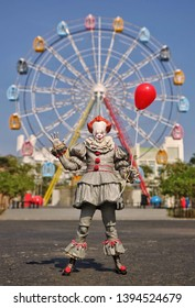 """Central Java / Indonesia - May 10, 2019 : Neca Toys action figure based from movie """"IT"""" character Pennywise the Dancing Clown."""