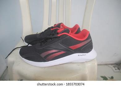 Central Java, Indonesia – November 16, 2020: diadora's shoes in Magelang, Central Java, Indonesia on November 16, 2020