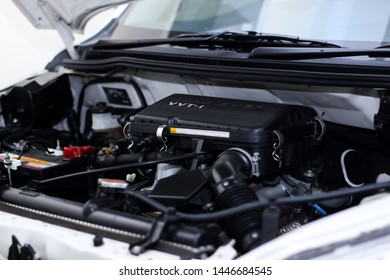 Central Java/Indonesia -July 5 2019:Daihatsu Terios car engine with VTEC type engine
