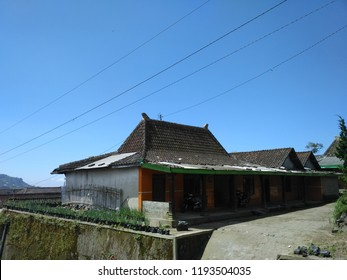 Central Javanese Traditional House, in Merapi slope also known as Joglo house because its shape and building structure.