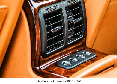 Central leather luxury car
