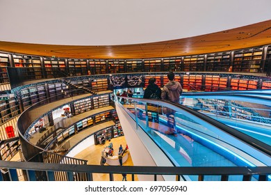 Central Library of Birmingham, England, UK - Public Library interior