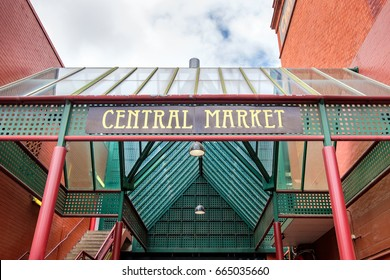 Central market main entrance gate in Adelaide CBD, South Australia