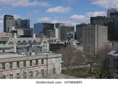 Central Montreal on an early spring day