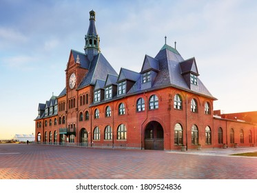Central New Jersey Railroad Terminal building at Liberty State Park.