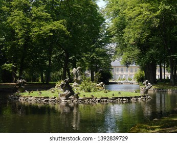 Central Park in the city of Bayreuth, Germany.