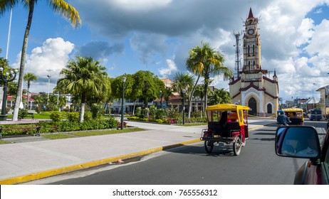 central park in iquitos city