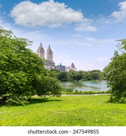 Central Park The Lake Manhattan New York US