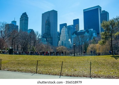 Central Park in Manhattan New York America