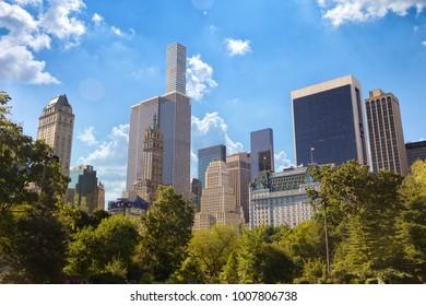 Central Park and Manhattan skyline, New York City