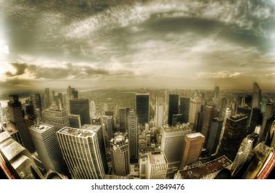 Central Park - Manhattan -USA - sepia