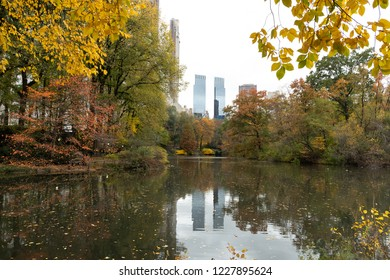Central Park in New York City autumn foliage
