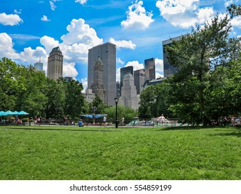Central Park in New York City on a sunny day