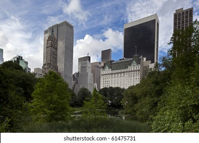 Central Park - New York City in the early morning at the plaza hotel