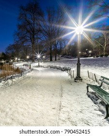 Central Park, New York City winter snow