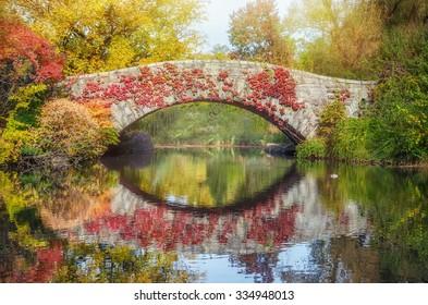 Central Park pond. New York, USA