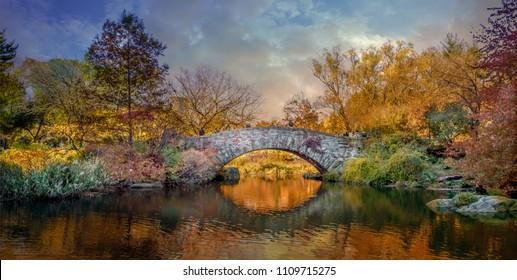 Central Park sunset, New York.