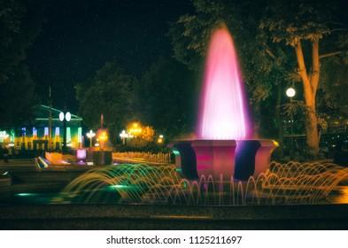 Central park of Ternopil, Ukraine