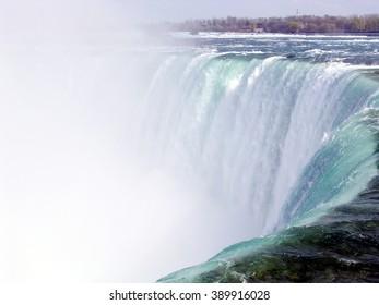 Central part of Canadian Niagara Falls in spring, Canada