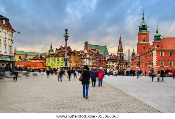 Central part of Warsaw, capital of Poland