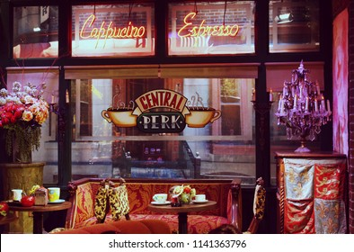 "Central Perk cafe set from ""Friends"" TV show at Warner Brothers Studio in Los Angeles, California. October 3d, 2016."