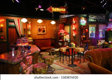 """Central Perk cafe set from """"Friends"""" TV show at Warner Brothers Studio in Los Angeles, California. October 3d, 2016."""