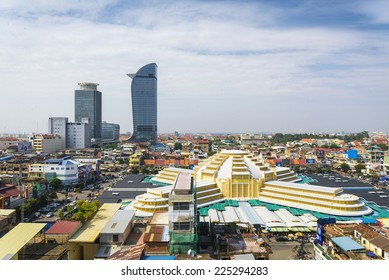 central phnom penh city in cambodia