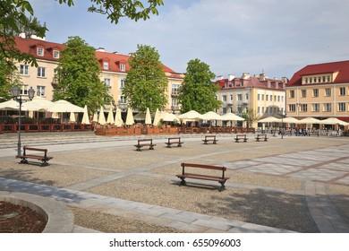 Central square in Biaystock, Poland