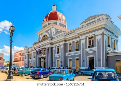 Central square wit red dome palace, Cienfuegos, Cuba