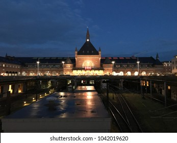 The central station in the night - Shutterstock ID 1042019620