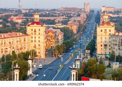 Central street of Zaporozhye, Soborniy (Lenin) avenue
